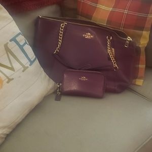 Coach tote and wallet set